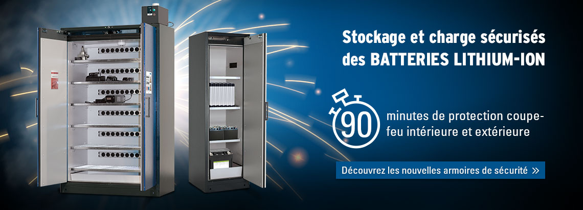Armoires pour batteries lithium-ion