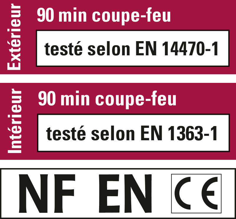 Logo Certification Protection coupe-feu