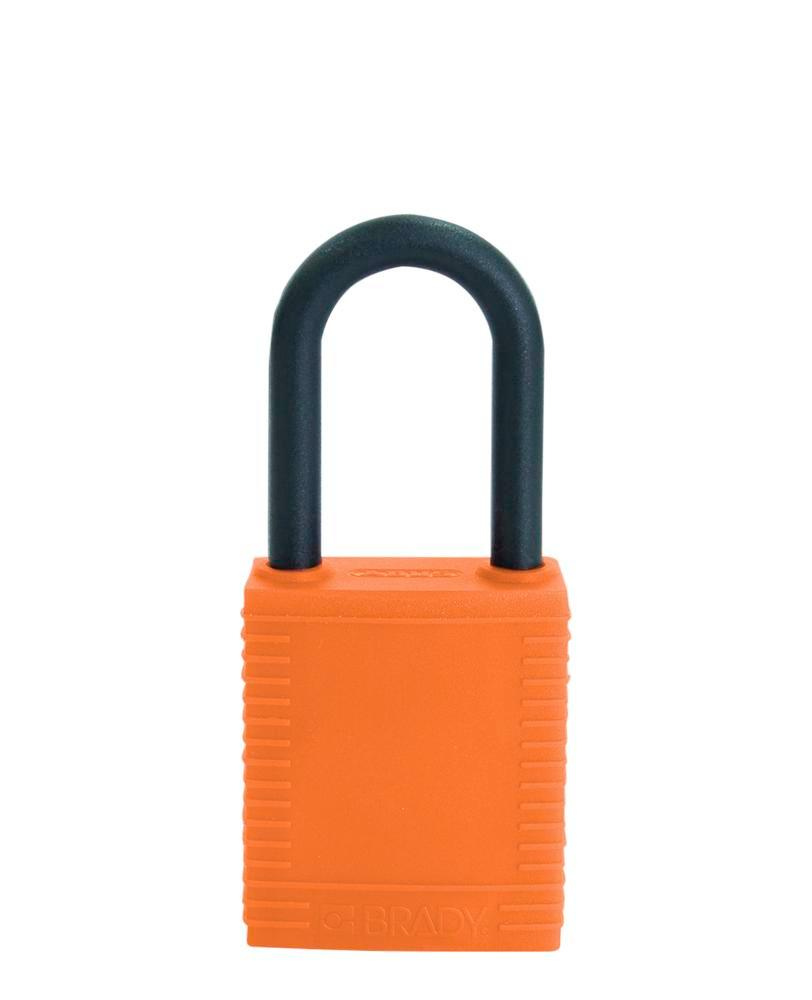 Cadenas de sécurité, anse plastique, orange, non conducteur