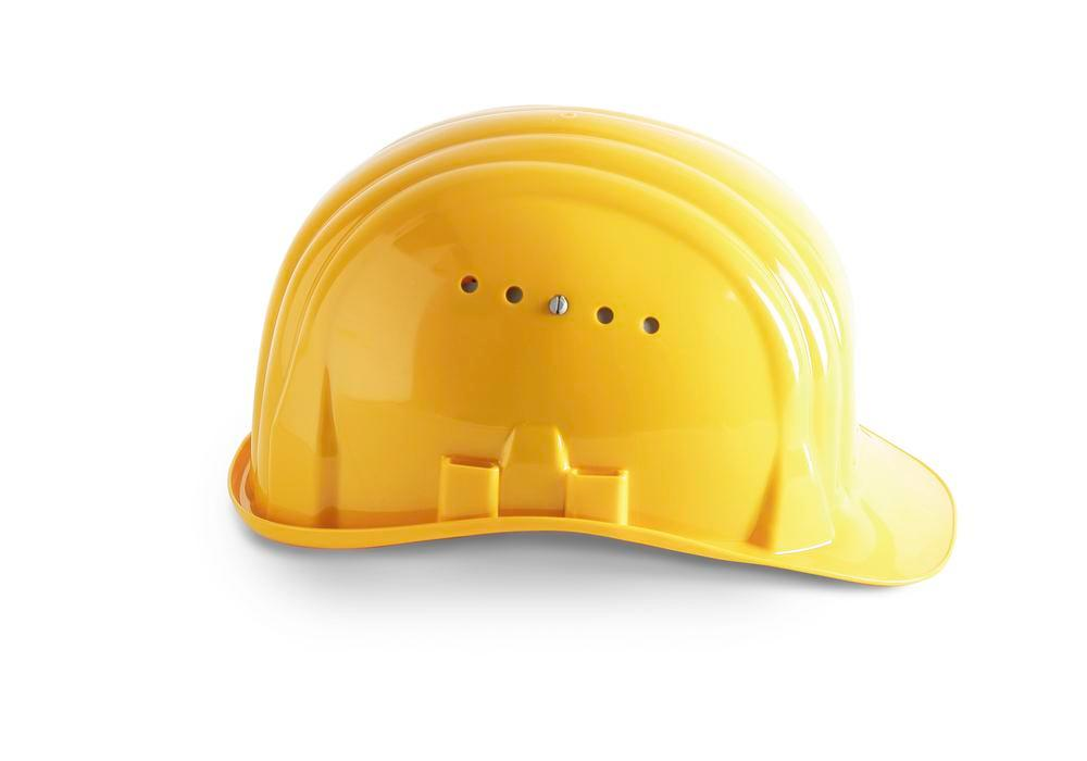 Casque de chantier Schuberth avec coiffe 6 points, conforme DIN-EN 397, jaune