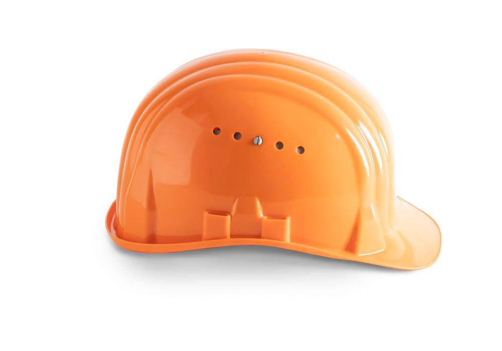 Casque de chantier Schuberth avec coiffe 6 points, conforme DIN-EN 397, orange