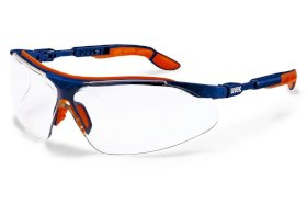Lunettes à branches uvex i-vo 9160, Duo Component Technology, bleu-orange-w280px