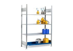 Rayonnage GRG 1360 pour substances inflammables, 3 caillebotis, 1360 x 640 x 2000 mm, base-w280px