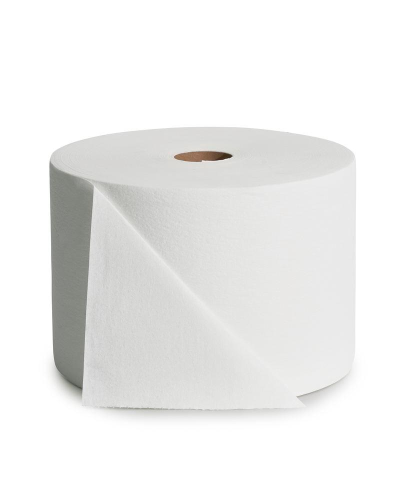 Chiffons d'essuyage très absorbants, 1 rouleau, blanc