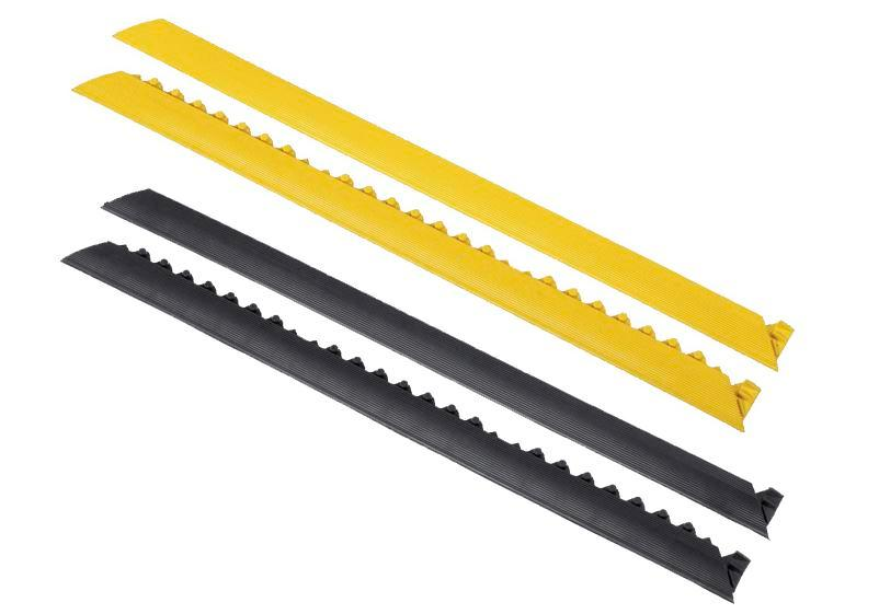 Bordure, connection mâle, jaune, pour tapis anti-fatigue SH, longueur 91 cm